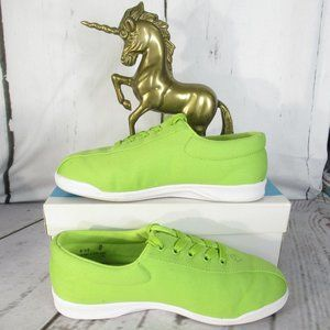Easy Spirit Lime Green Lace Up Textile Sneakers